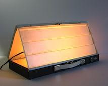 Vintage Slide Viewer - Eaton Optina Slide Light Box - Metal Carry Case - Photography Studio Equipment - Portfolio Display - Industrial Decor
