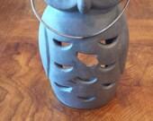 Vintage Metal Owl Lantern
