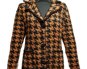 SALE! Houndstooth Blazer by Crooked Knitwear