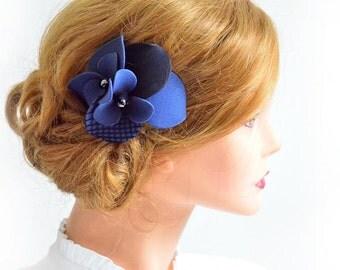 Navy blue wedding headpiece Bridal fascinator Wedding hair comb Wedding fascinator Headpiece Wedding hair clipBridal hair accessories
