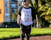 My best friend is my papa shirt, kids raglan, papa shirt, boys shirts, girls shirts, hipster baby clothes, best friend shirt, black raglan
