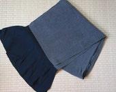 Mens obi belt black grey,...