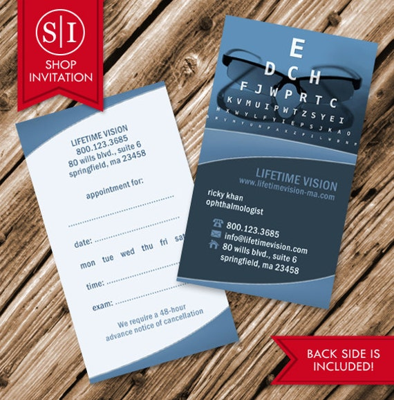 Optical Business Card Free Shipping