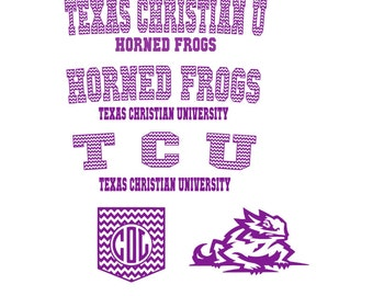 TCU Jersey Set SVG  Studio Eps PNG Pdf vinyl cutting file
