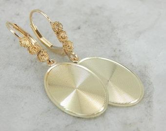 Textured Oval Drop Earrings 1WC4JC-D