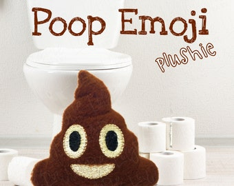 Poop Emoji Plush - Fleece Stuffie - Pocket Pal - Mini Plush