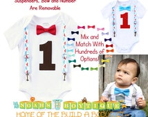Vintage Airplane First Birthday Outfit - Airplane Theme - Plane - Red and Blue Airplanes - Brown - Aviator - Boys First Birthday Outfits