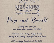 Burgers & Bourbon - BBQ Party / Couple's Shower / Man Shower / Dadchelor Party Invite, Bachelor Party Invite PDF print for DIY Printing