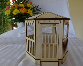 Gazebo miniature dollhouse model
