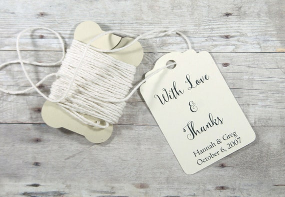 Embossed Wedding Gift Tags : Wedding Gift Tags set of 20Personalized Ivory Wedding Favor Tags ...