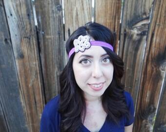 Jewel Headband Bright Purple