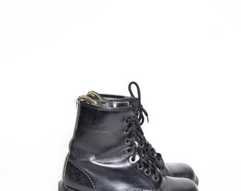 Vintage 90s Genuine Leather Black Dr. Martens Combat Boots