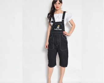 Vintage 90's Black Denim Overalls