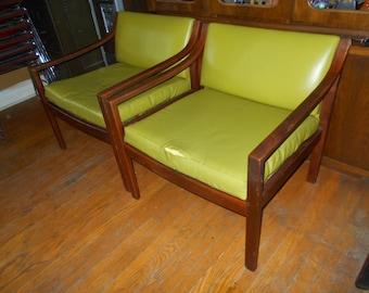 Danish Mid Century Lounge Chairs
