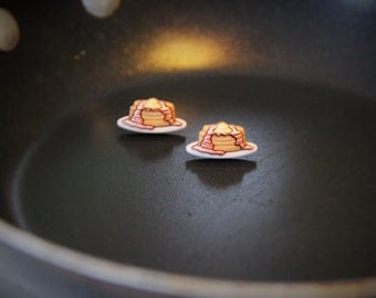 Pancake Post Earrings!