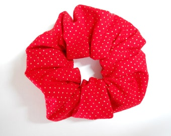 Scrunchie Red With Gold Dots
