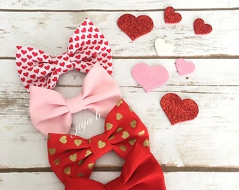 Valentine's Day Bow Tie, Heart Bow Tie, Pink Bow Tie, Red Bow Tie, Kids Valentine's Day, Men's bow tie