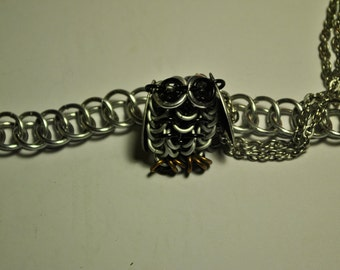 Owl Pendant Chainmaille Ornament