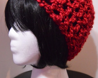 Candy Apple Red Fluffy Beanie Hat for Adults