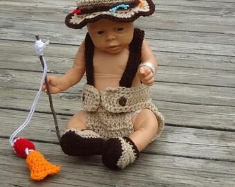 baby photo prop fishing baby baby fisherman baby fishing prop baby fishing outfit crochet photo prop baby fishing hat baby shower gift