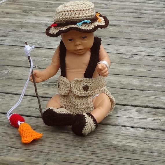 Baby photo prop fishing baby baby fisherman baby fishing prop for Baby fishing outfit