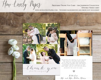 Printable Wedding Thank You Photo Card - the Josephine Collection