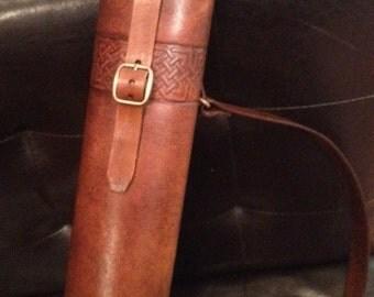 Medieval Traveller Adventurer Fantasy Celtic Leather Map Tube