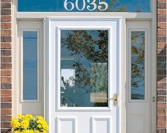 """address numbers, house numbers, Etched Glass Vinyl House Numbers, 4"""",  Etched Glass decal,  numbers, street address, address"""