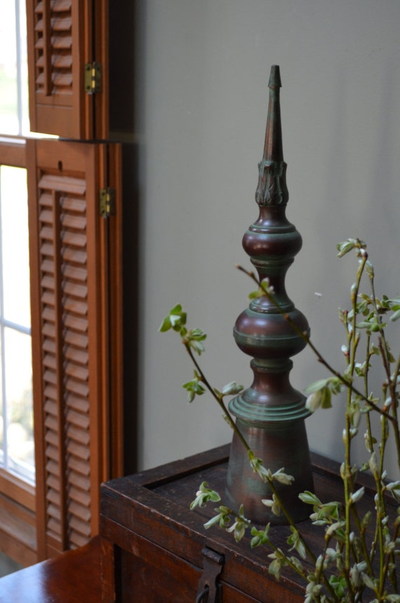 Finial Piece Decorative Metal Finial Ornate Finial With Copper