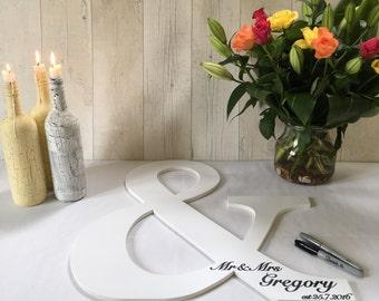 Custom Alternative guest book Large ampersand Wedding Engagement photo shoot prop Extra large letters Wedding guest book alternative