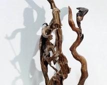 Driftwood Art Sculpture, Aretha Franklin band... Natural Wood Sculpture...