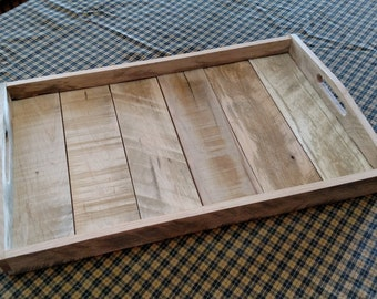 """Reclaimed Pallet Wood Serving Tray 20"""" x 11"""" x 1.5"""""""