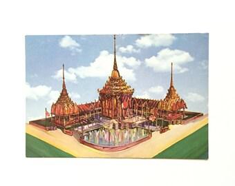 Vintage New York World's Fair Postcard / Thailand Pavilion Postcard / Vintage Souvenir / 1960s Memorabilia / Unused Postcard
