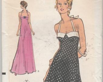 "RARE Vogue Patterns 8611  Misses' Halter Dress Size 12 Bust 34"""