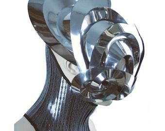 Mantis alien robot mask headpiece armour sci fi  futuristic steampunk cyber headdress cybergoth divamp couture