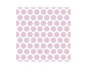 LakeHouse Dot Fabric Red on White Colander Dot - Sunrise Studio 2 - red polka dots, red and white, modern quilt fabric, strawberry, berry