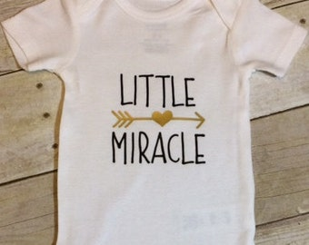 Little, Miracle, Bodysuit, Baby, Shower, Gift