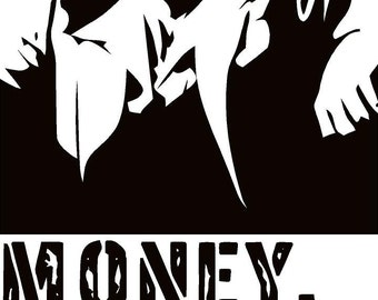 Bathroom clipart black and white - Scarface Money Power Respect Vinyl Wall Decal For Home Decore
