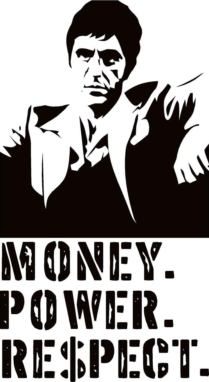 Scarface money power respect vinyl wall decal for home decore -  Scarface Money Power Respect Vinyl Wall Decal For Home Decore Zoom