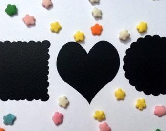 Black Chalkboard Labels - 15 count