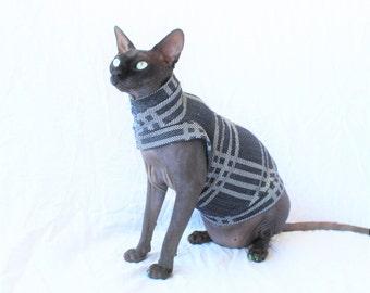 "Designer Cat Shirt ""Hashtag"" Summerweight Cat Clothing"