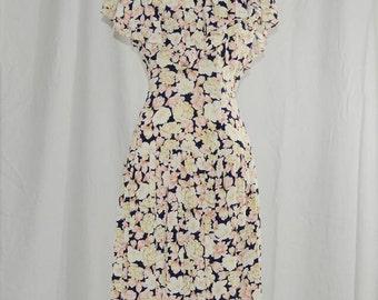 1980's Dulce Leche // Rayon Dress // M-L