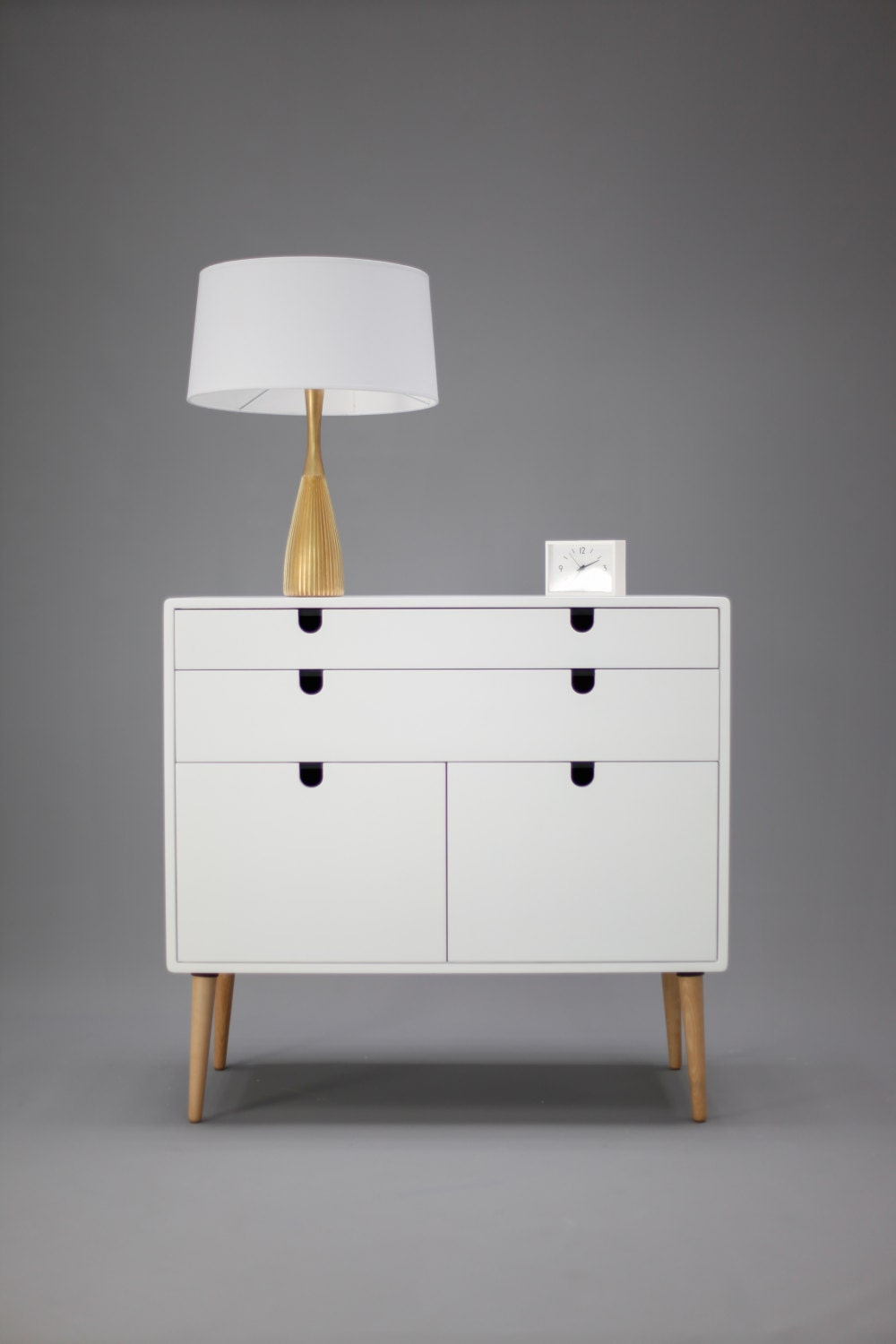 Modern White Credenza Dresser Commode Credenza In Solid Oak Wood Board Style