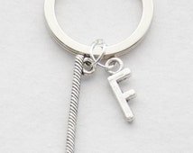 Golfing Keychain Golfer Keychain Golf Key Ring Custom Golfing Keychain Initial keychains Father's Day Men's Accessories Golf Jewelry UNisex