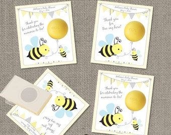 Bumble Bee Baby Shower Gift Tags For EOS Lip Balm
