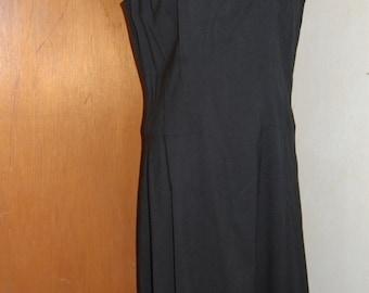 R&K Originals 1960's LBD Little Black Dress with nice detail at neckline.