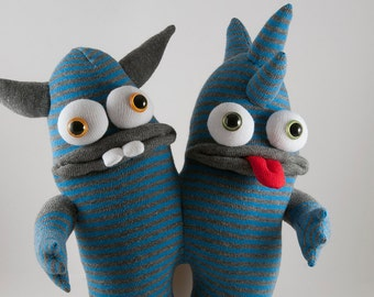 Sock monster twins | conjoined | Ben and Amos