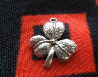Sterling Clover Charm Three Leaf Clover Charm Silver Charm for Bracelet from Charmhuntress 03241