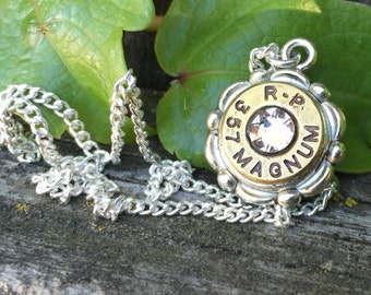 Bullet Casing Cameo Necklace, 9mm
