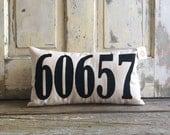 Pillow Cover   Zip Code pillow   Address pillow   House Numbers pillow   Realtor Gift   Housewarming Gift   Wedding Gift   Moving Gift